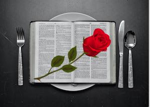 jeune biblique rose